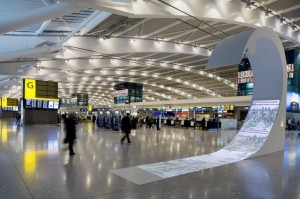 Aeroporto di Heathrow a Londra.