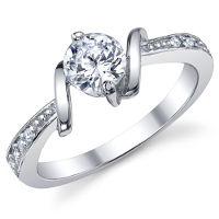 Anello di fidanzamento, fede da donna.