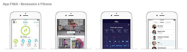 App Fitbit per il telefono.