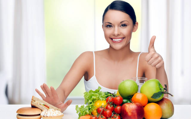 Dieta sana ed equilibrata.