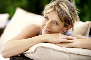 Donna in menopausa.