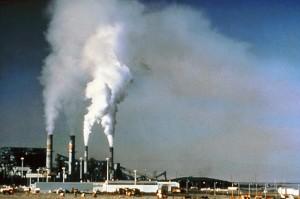 Emissioni di gas serra nell'aria.