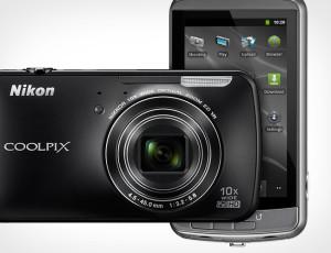 Fotocamera con android Nikon Coolpix S800C.