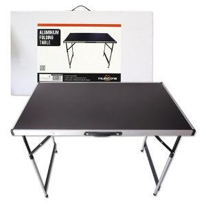 Tavolo pieghevole in alluminio.