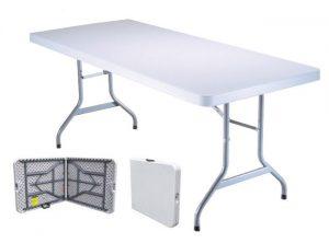 Tavolo pieghevole e richiudibile per il trasporto, per campeggio o per eventi.