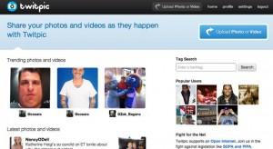 Sito web di Twitpic.