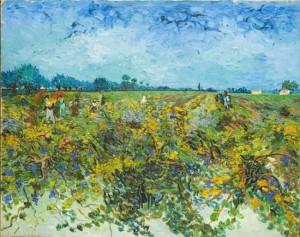 """Opera di Van Gogh """"La vigna verde""""."""