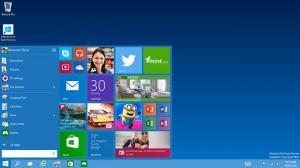 Windows 10, il nuovo menù start.